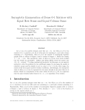 """Báo cáo toán học: """"Asymptotic Enumeration of Dense 0-1 Matrices with Equal Row Sums and Equal Column Sums"""""""