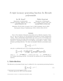 "Báo cáo toán học: ""A triple lacunary generating function for Hermite polynomials"""