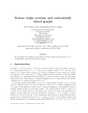 "Báo cáo toán học: ""Steiner triple systems and existentially closed graphs"""