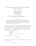 "Báo cáo toán học: ""A note on exponents vs root heights for complex simple Lie algebras"""