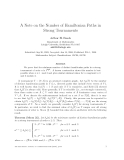 "Báo cáo toán học: ""A Note on the Number of Hamiltonian Paths in Strong Tournaments"""