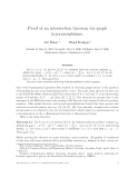 "Báo cáo toán học: ""Proof of an intersection theorem via graph homomorphisms"""