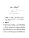 "Báo cáo toán học: ""On Computing the Distinguishing Numbers of Trees and Forests"""