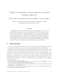 """Báo cáo toán học: """"Tilings by translation: enumeration by a rational language approach"""""""