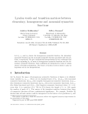 """Báo cáo toán học: """"Lyndon words and transition matrices between elementary, homogeneous and monomial symmetric functions"""""""