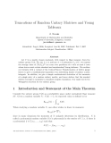 "Báo cáo toán học: ""Truncations of Random Unitary Matrices and Young Tableaux"""