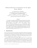 """Báo cáo toán học: """" Robinson-Schensted correspondence for the signed Brauer algebras"""""""