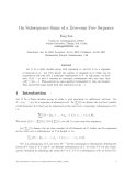"""Báo cáo toán học: """"On Subsequence Sums of a Zero-sum Free Sequence"""""""