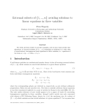 "Báo cáo toán học: ""Extremal subsets of {1, ..., n} avoiding solutions to linear equations in three variables"""