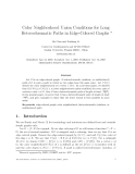 """Báo cáo toán học: """"Color Neighborhood Union Conditions for Long Heterochromatic Paths in Edge-Colored Graphs"""""""