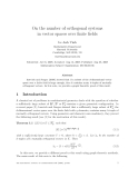 "Báo cáo toán học: ""On the number of orthogonal systems in vector spaces over finite fields"""