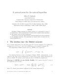 "Báo cáo toán học: ""A natural series for the natural logarithm"""