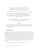 "Báo cáo toán học: ""Convexly independent subsets of the Minkowski sum of planar point sets"""