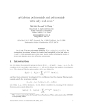 "Báo cáo toán học: ""q-Eulerian polynomials and polynomials with only real zeros"""