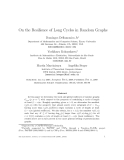 "Báo cáo tin học: ""On the Resilience of Long Cycles in Random Graphshan"""