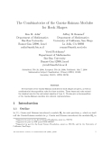 "Báo cáo tin học: ""he Combinatorics of the Garsia-Haiman Modules for Hook Shapes"""