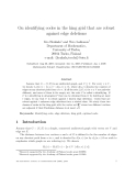 "Báo cáo toán học: ""On identifying codes in the king grid that are robust against edge deletions"""