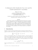 "Báo cáo toán học: ""A refinement of the formula for k-ary trees and the Gould-Vandermonde's convolution"""