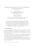 "Báo cáo toán học: ""Graphs Associated with Codes of Covering Radius 1 and Minimum Distance 2"""
