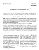 "Báo cáo lâm nghiệp: ""Influence of the fertilisation method in controlled ectomycorrhizal inoculation of two Mediterranean pines"""