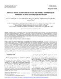 "Báo cáo lâm nghiệp: ""Effect of an oil heat treatment on the leachability and biological resistance of boric acid impregnated wood"""