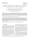 "Báo cáo lâm nghiệp: ""Field effect of P fertilization on N2 fixation rate of Ulex europaeus"""