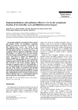 "Báo cáo khoa học: ""Immunomodulatory and antitumor effects in vivo by the cytoplasmic fraction of Lactobacillus casei and Bifidobacterium longum"""