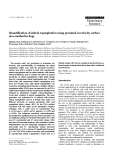 """Báo cáo khoa học: """"Quantification of mitral regurgitation using proximal isovelocity surface area method in dogs"""""""
