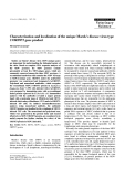 """Báo cáo khoa học: """"Characterization and localization of the unique Marek's disease virus type 2 ORF873 gene product"""""""
