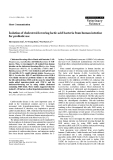 "Báo cáo khoa học: ""Isolation of cholesterol-lowering lactic acid bacteria from human intestine for probiotic use"""