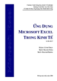 Ứng dụng excel trong kinh tế