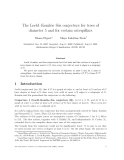 "Báo cáo toán học: ""The Loebl–Koml´s–S´s conjecture for trees of o o diameter 5 and for certain caterpillars"""