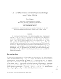 "Báo cáo toán học: ""On the Dispersions of the Polynomial Maps over Finite Fields"""