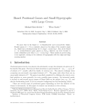 """Báo cáo toán học: """"Biased Positional Games and Small Hypergraphs with Large Covers"""""""