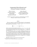 """Báo cáo toán học: """"Augmented Rook Boards and General Product Formulas"""""""