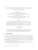 """Báo cáo toán học: """"Set Systems with Restricted t-wise Intersections modulo Prime Powers"""""""