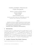 "Báo cáo toán học: "" Landau's and Rado's Theorems and Partial Tournaments"""