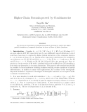 "Báo cáo toán học: ""Higher Chain Formula proved by Combinatorics"""