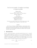 "Báo cáo toán học: ""On the total weight of weighted matchings of segment graphs"""