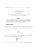 "Báo cáo toán học: ""Mixing time for a random walk on rooted trees"""