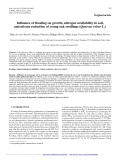 "Báo cáo lâm nghiệp: ""Influence of flooding on growth, nitrogen availability in soil, and nitrate reduction of young oak seedlings (Quercus robur L.)"""