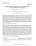 """Báo cáo lâm nghiệp: """"A comparison of two modelling studies of environmental effects on forest carbon stocks across Europe"""""""