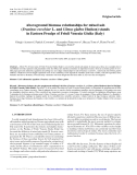 "Báo cáo lâm nghiệp: ""Aboveground biomass relationships for mixed ash (Fraxinus excelsior L. and Ulmus glabra Hudson) stands in Eastern Prealps of Friuli Venezia Giulia (Italy)"""
