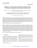"""Báo cáo lâm nghiệp: """"Estimation of carbon stocks in a beech forest (Fougères Forest – W. France): extrapolation from the plots to the whole forest"""""""