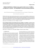 "Báo cáo lâm nghiệp: ""Habitat distribution of dipterocarp species in the Leyte Cordillera: an indicator for species – site suitability in local reforestation programs"""