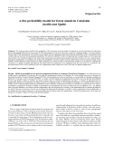 """Báo cáo lâm nghiệp: """"A fire probability model for forest stands in Catalonia (north-east Spain)"""""""