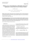 "Báo cáo lâm nghiệp: ""Influence of cross section dimensions on Timoshenko's shear factor – Application to wooden beams in free-free flexural vibration"""