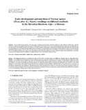 """Báo cáo lâm nghiệp: """" Early development and nutrition of Norway spruce (Picea abies (L.) Karst.) seedlings on different seedbeds in the Bavarian limestone Alps – a bioassay"""""""