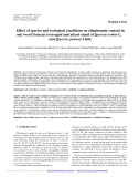 "Báo cáo lâm nghiệp: "" Effect of species and ecological conditions on ellagitannin content in oak wood from an even-aged and mixed stand of Quercus robur L. and Quercus petraea Liebl."""