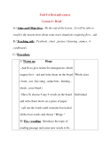 Giáo án Tiếng Anh lớp 8: Unit 9 A first aids course Lesson 4 : Read
